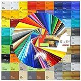 3,41€/m² ORACAL 621 500cm Glanz Plotterfolie 5 Meter Möbelfolie Klebe Folie Oracal 621 Glanz Auto möbelfolie high cast glänzend Glanz Premium Glanz high cast klebefolie Premium (052...