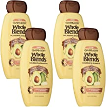 Garnier Whole Blends Shampoo with Avocado Oil & Shea Butter Extracts, 4 Count