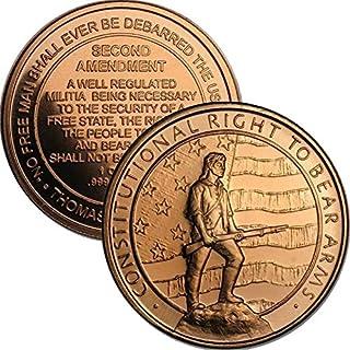 1 oz .999 Pure Copper Round/Challenge Coin (Second Amendment)
