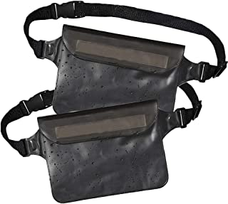 Waterproof Fanny Pack (Set of 2), Waterproof Phone Pouch Waist Bag, Dry Bag Waist Pack for Travel & Cruise Essentials, Wat...