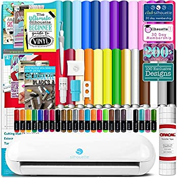 Silhouette Portrait 3 with 26 Oracal 651 Vinyl Sheets Guides Sketch Pens and More