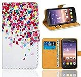 FoneExpert® Huawei Y625 Handy Tasche, Wallet Hülle Flip Cover Hüllen Etui Ledertasche Lederhülle Premium Schutzhülle für Huawei Y625 (Pattern 1)