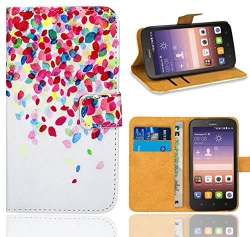 Huawei Y625 Handy Tasche, FoneExpert® Wallet Hülle Flip Cover Hüllen Etui Ledertasche Lederhülle Premium Schutzhülle für Huawei Y625 (Pattern 1)