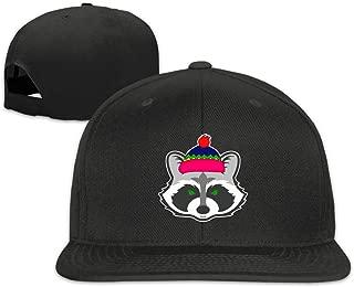 ONE-HEART HR Baseball Cap Christmas Raccoon Adjustable Custom Flat Peaked Hat Unisex