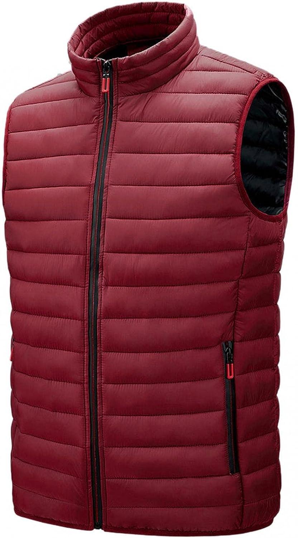 Huangse Men's Water-Resistant Packable Puffer Vest Lightweight Sleeveless Quilted Winter Jackets Gilet