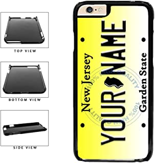 BleuReign(TM) Personalized Custom Name New Jersey State License Plate Plastic Phone Case Back Cover For Apple iPhone 6 6s (4.7 Inches Screen)