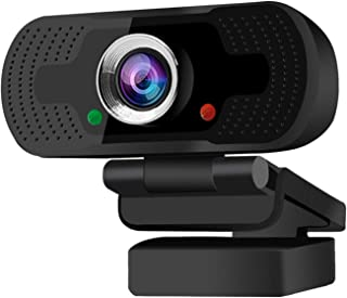 Webcam, HD 1080P manual focus camera computer webcam USB2.0 plug and play with built-in microphone. Used for conference, w...