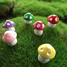 amazyn Resin Small Mushroom 6:6 Color Mushroom Micro Landscape Decoration Mushroom@Six-Color Bisector_0