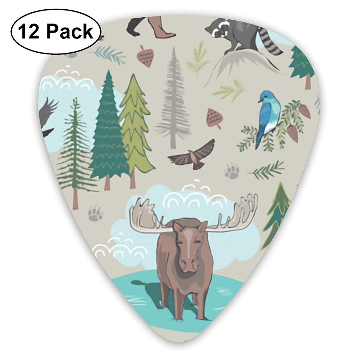 Little Bear Behind Bendy Ultra Thin 0.46 Med 0.73 Thick 0.96mm 4 Pieces Each Base Prime Plastic Jazz Mandolin Bass Ukelele Guitar Pick Plectrum Display