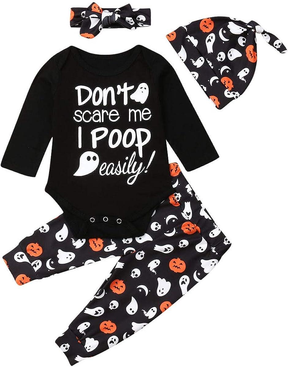 Newborn Boy Girl Halloween Outfits Long Sleeve Pumpkin Romper Plaid Pants Christmas Outfit Thanksgiving Clothes Fall Winter