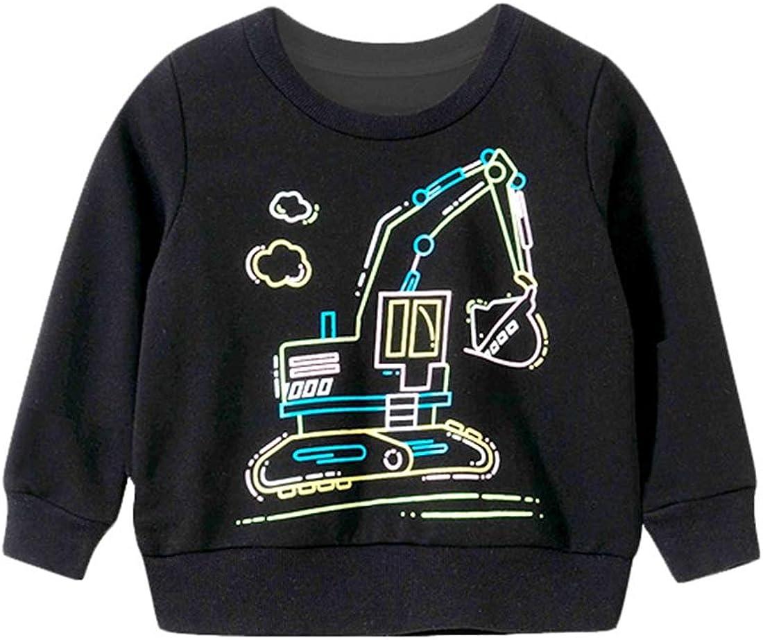 Boy's Long-Sleeve Max 57% OFF Pullover 4-10 Years Kid's Nec Crew Sweatshirt Daily bargain sale