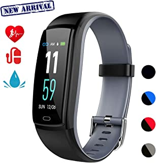 Fitness Tracker,Smart Watch Activity Tracker Health Bracelet Waterproof Wristband with Heart Rate Blood Pressure Pedometer Sleep Monitor Calorie Step Counter for Men Women Kids