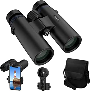 Binoculars for Adults, ACPOTEL 10x42 Hunting Binoculars, HD Compact Binoculars with BAK4 Prism FMC Coating, for Bird Watching/Travel/Sports/Hunting/Boating/Concerts