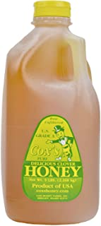 Cox's Honey Unfiltered Raw Clover Honey, 80 oz