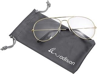 b978bf424b WODISON gafas de sol de aviador de la vendimia reflectante lente de espejo