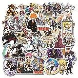 Lanseede 100 Piezas Fairy Tail Anime Pegatinas Vinilo Stickers Coche calcomanías Motocicleta Equipaje monopatín portátil