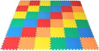 VLFit Puzzle para Niños   Puzzle de Suelo de Goma en Espuma EVA - 10 o 20 Piezas Alfombra de Juego para bebé Esterilla de Rompecabezas Approx 0,95m² o 1,9m²- Multicolored (10 Piezas)
