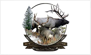 White Doors StickAny Car and Auto Decal Series Moose Elk Sticker for Windows Hoods
