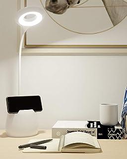 Lámpara Escritorio LED, Flexo LED escritorio, 3 Niveles de Brillo Panel Táctil Luz Flexo de Escritorio, Lámpara de Mesa Re...