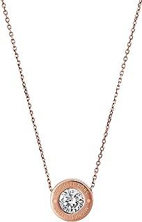 Michael Kors Rose Goldtone Clear Necklace