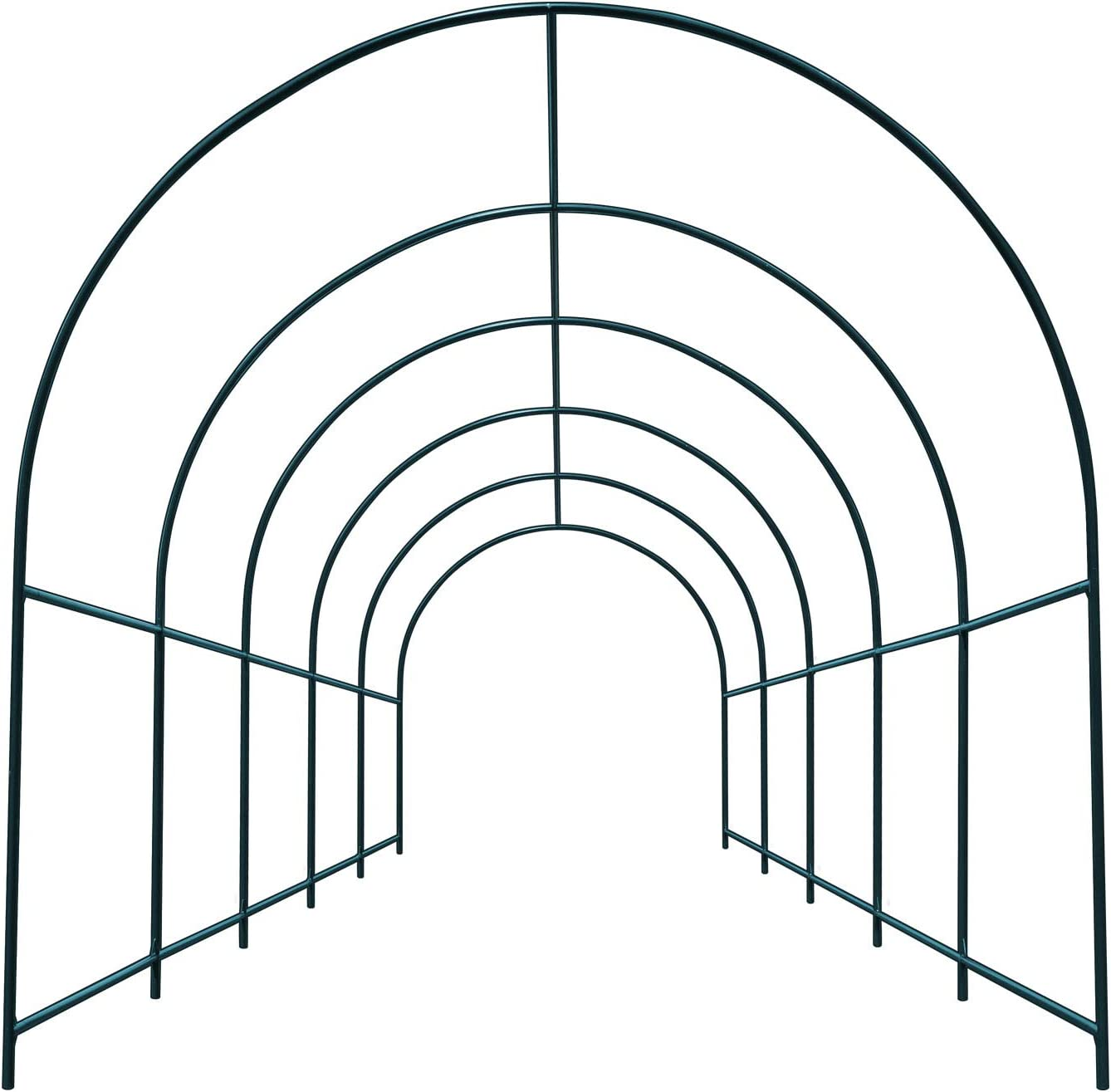 YardGrow Large Size Metal Garden Arbor Arch for Various Climbing Plant Roses Vines Birthday Wedding Party Decoration Pergola Arbor Climbing Support Frame (16.4 x 7 x 7.2ft)