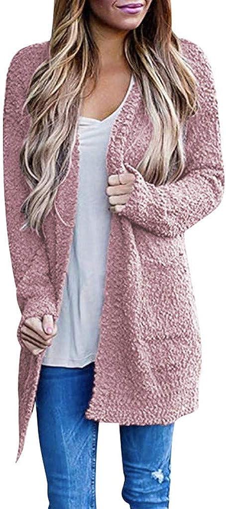 Sweaters for Women Plus Size,Wamajoly Women's Long Sleeve Casual Knit Sweater Open Front Cardigan