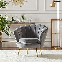 Armchair Lounge Chair Single Sofa Chair Modern Bedroom Living Room Clothing Beauty Shop Gold Velvet Chair 55 * 78Cm,Gray