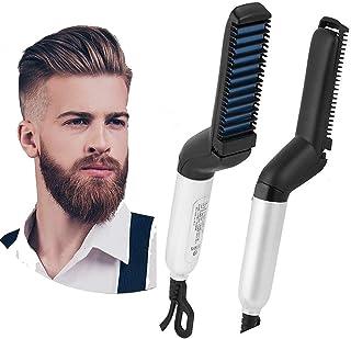 SEASPIRIT ™ Electric Hair Straightener Brush,Men Quick Beard Straightener Styler Comb,Hair Straightening,Curly Hair Straightening Comb,Side Hair Detangling, Multi functional Hair Curling Curler