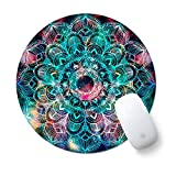 Round Cute Mouse Pad, ToLuLu Mousepad for Desktop Computer Laptop Notebook, Anti Slip Rubber Customized Mouse Mat for Working Gaming, Mini Funny Unique Design Mouse pad for Home, Office, Nice Mandala