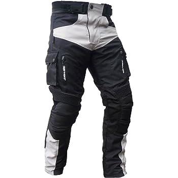 M HEYBERRY Motorradhose Schwarz Grau Textil mit Oberschenkeltaschen Gr