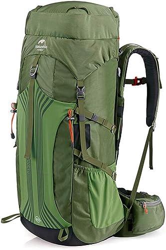 SMBYLL Sac d'alpinisme en Plein air Sac à Dos Hommes et Femmes randonnée Sac de Camping Grande capacité 55L65L Sac à Dos en Plein air (Couleur   vert, Taille   78cm×33.5cm×25cm)