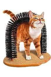 JFGSTDCV Juguete gatoGood Arch Pet Cat Self Groomer Tool con Base de vellón Redondo Cat Brush Toys para Mascotas Dispositivos de rascado: Amazon.es: Productos para mascotas