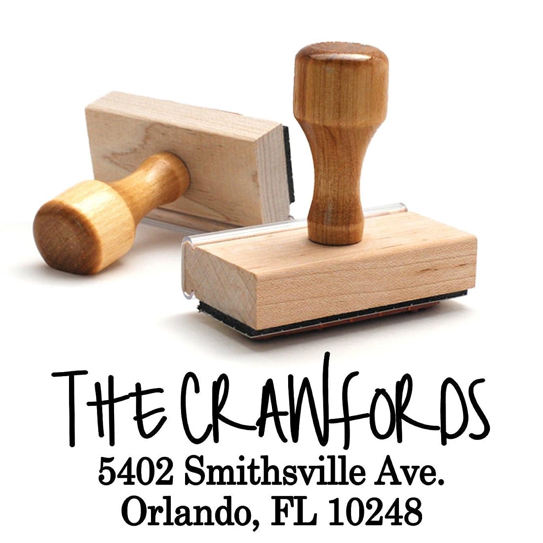 Traditional Wooden Handle Stamp Return Address Mail Stamper Custom Personalized Address Large 3 Lines Professional Wedding Gift Invitation Branding
