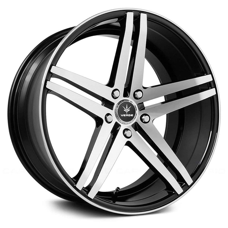 Verde Custom Wheels Parallax Gloss Black Wheel with Machined Spokes (19x8.5