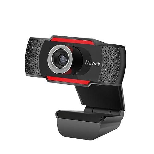 Webcam HD 720p, M.Way USB Cámara Web de Alta Definición con Micrófono Cámara