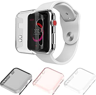 Apple Watch Series 2 & Series 3 Case 38mm, Monoy New [3 Pack] [Ultra Thin] Slim HD PC Screen Protector Protective Cover for iWatch 2 iwatch 3 38mm (38mm)