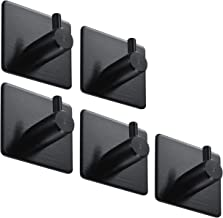 BasicForm Zelfklevende haken RVS Zwart (5 Pack)