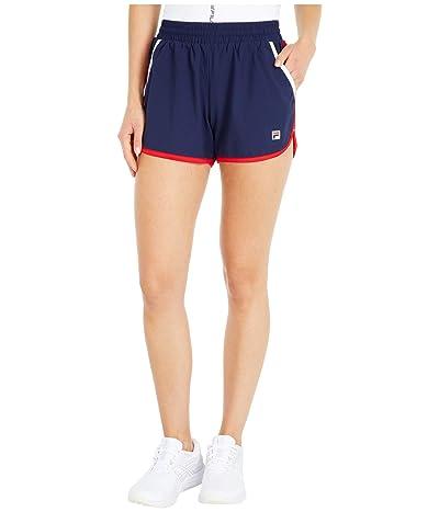 Fila Heritage Tennis Shorts (Navy/Chinese Red/White) Women