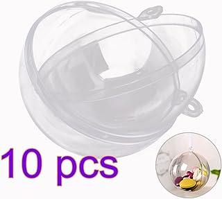winomo acrílico bolas bolas de navidad transparente bola para rellenar con gancho para colgar 6cm