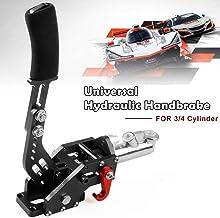 Sporacingrts Hydraulic Handbrake Drift E-Brake Handle Parking Emergency Brake Lever Universal for Racing Cars