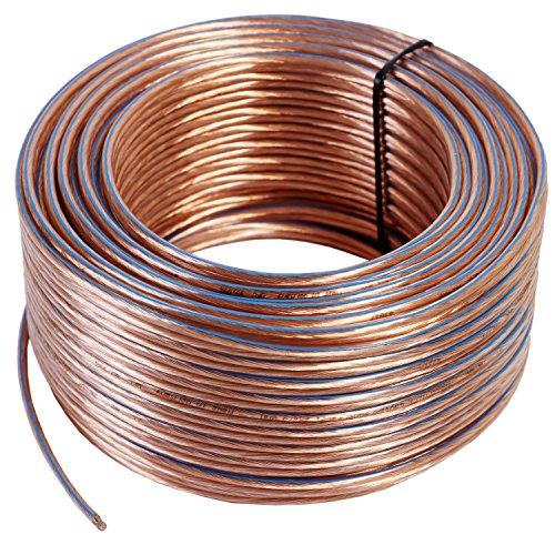 Misterhifi Cable para altavoces de 20 m 2 x 1,5 mm², cordó