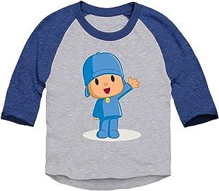 Pocoyo - Pocoyo Waving Toddler 3/4 Sleeve Baseball Raglan T-Shirt