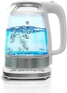 Electric Kettle BPA Free - 1.7L Double Wall Glass, Fast Boiling Glass Tea Kettle Cordless, Hot Water Kettle, Tea Pot, Hot Water Heater Dispenser