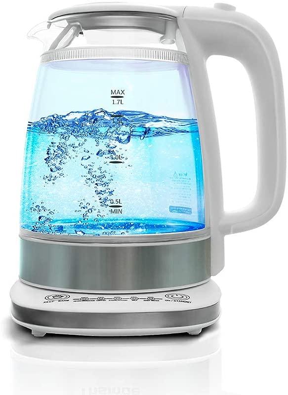 Electric Kettle BPA Free 1 7L Double Wall Glass Fast Boiling Glass Tea Kettle Cordless Hot Water Kettle Tea Pot Hot Water Heater Dispenser