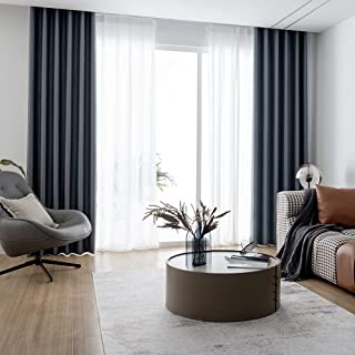 Blackout Curtain For Bedroom,Thermal Full Shading,Safty Enviromental Protection Curtains 2 Pieces (dark grey, 150 x 270 cm)