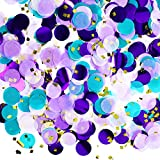 Material: the table confetti is made of 2 kinds of materials, tissue paper and foil; And the shiny colour is made of foil Size: round paper size measures approx. 1 inch/ 2.5 cm in diameter, please pay attention to the size before you buy Different co...