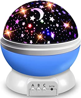 AOCHEN Star Night Light Kids, Baby Music Night Light Projector Rotation LED Night Light Lamp with 8 Colorfull Lights and 1...