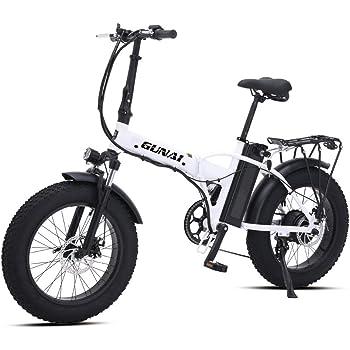 500W Bicicleta Eléctrica Plegable Montaña Nieve E-Bike Ciclismo de ...