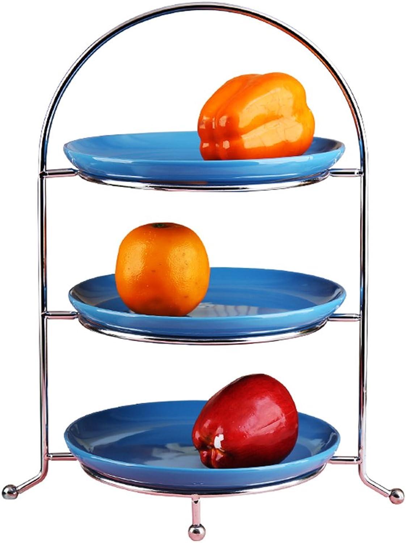 ¡no ser extrañado! WENWEN Plato de Frutas Frutas Frutas Plato De Fruta Seco del Estante De La Torta De La Fruta del Hierro Creativo De Tres Capas  calidad garantizada