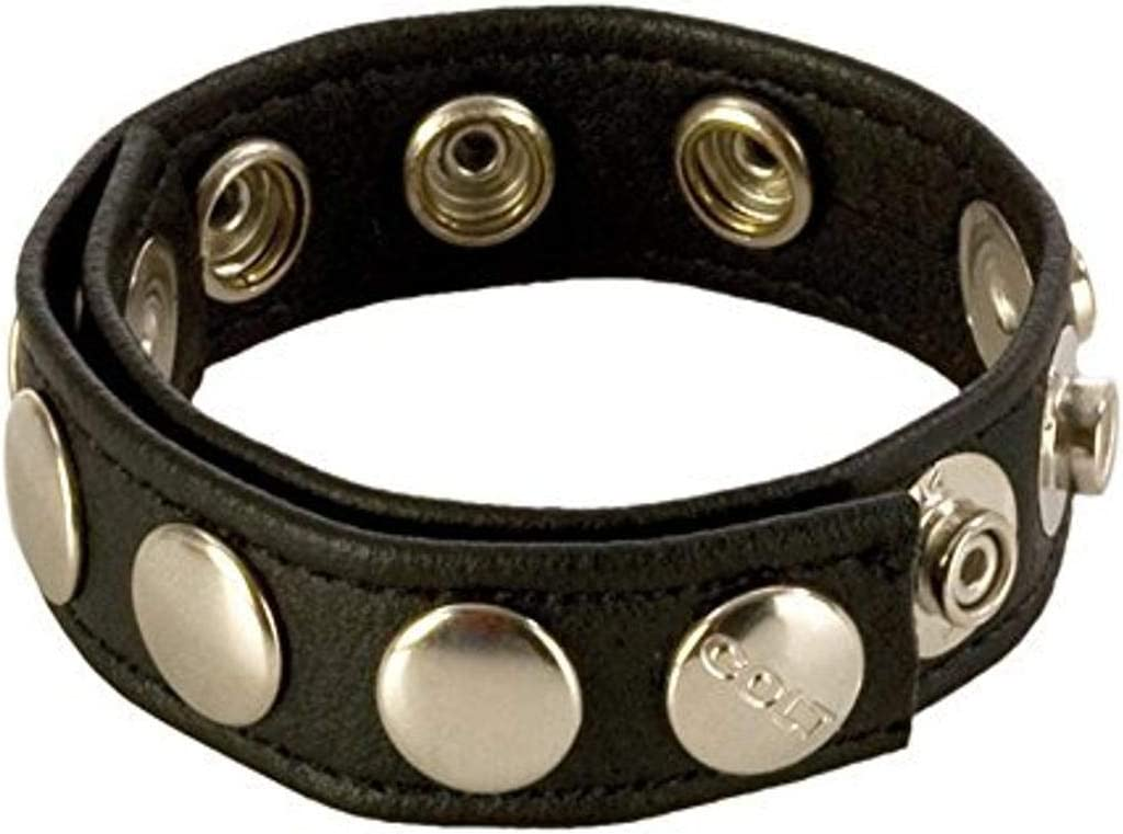 California Now on sale Exotics COLT 8-Snap Strap Leather Max 76% OFF Fastener